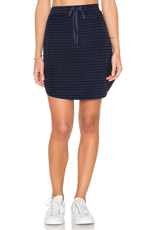 Michael Stars Playa Stripe Drawstring Mini Skirt in Nocturnal
