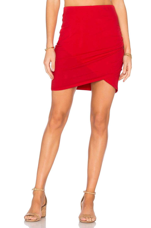 Michael Stars Cross Front Mini Skirt in Blaze