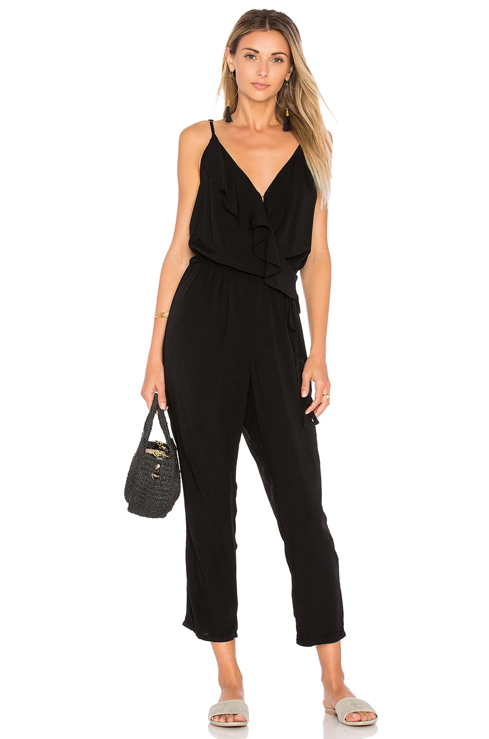 Michael Stars Farrah Jumpsuit in Black