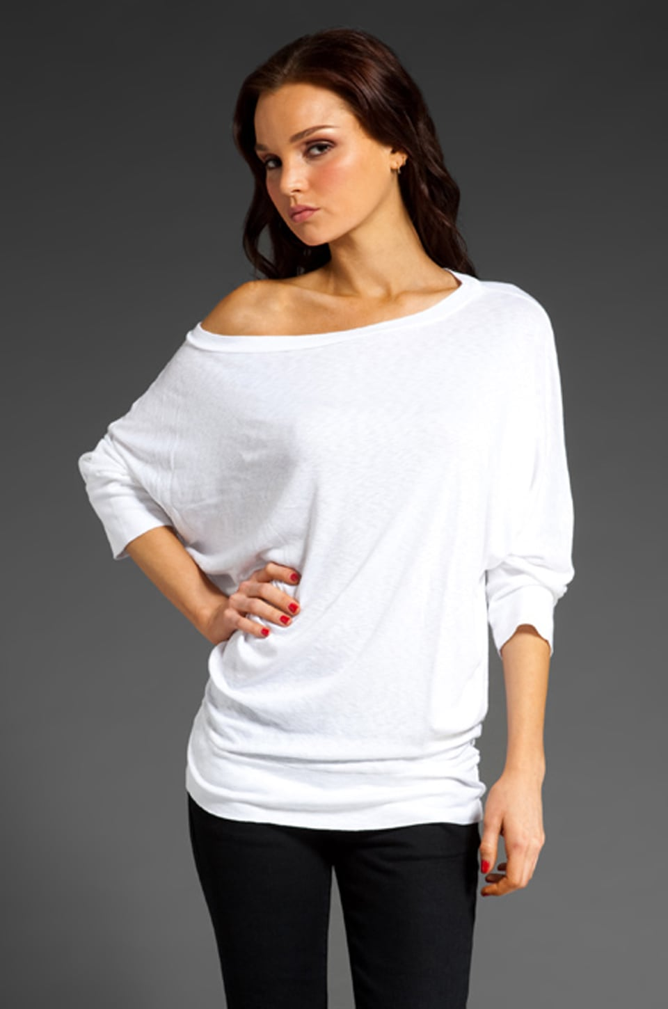 Michael Stars Slub Sweatshirt Tee in White