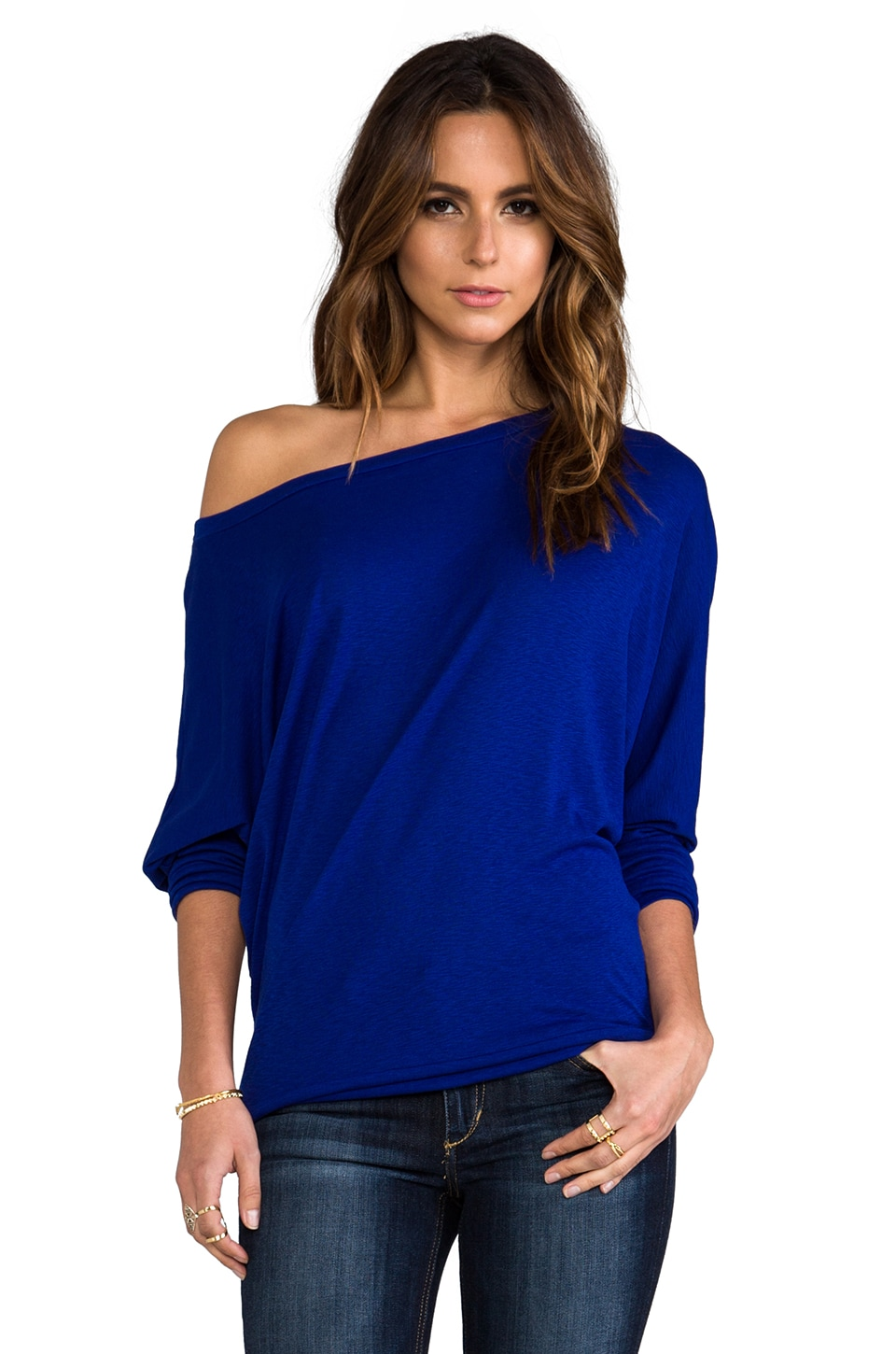 Michael Stars Wide Neck Dolman in Adriatic