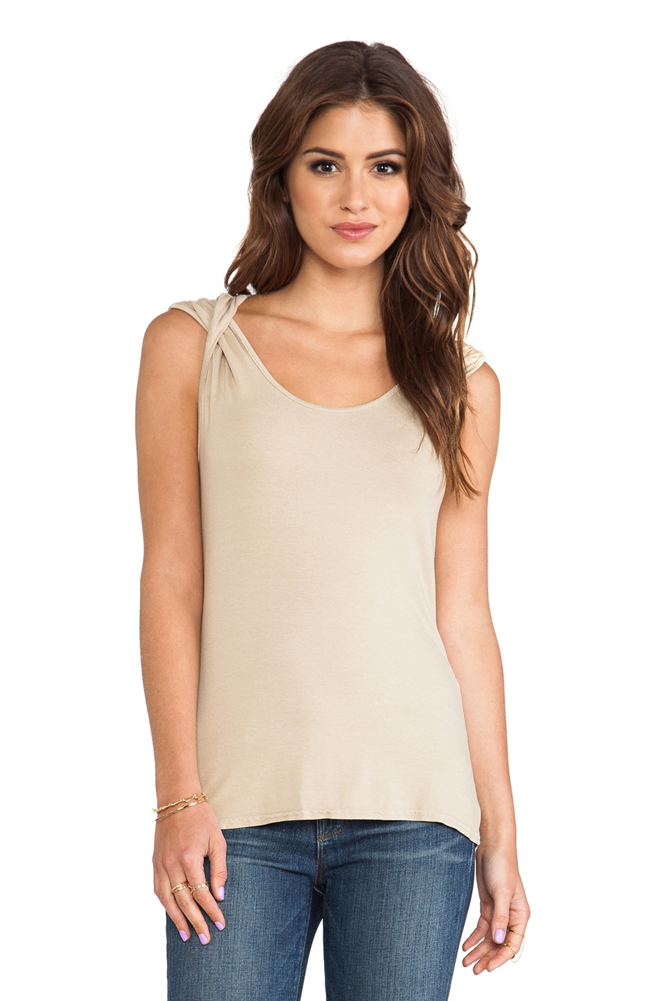 Michael Stars Twisted Strap Top in Bamboo