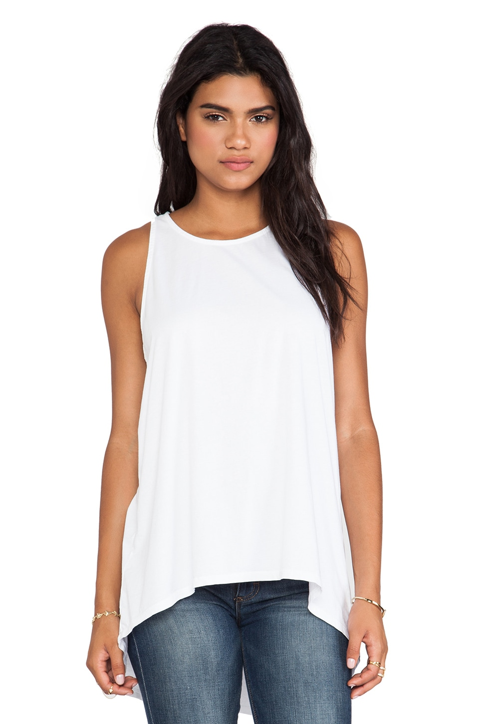 Michael Stars Macrame Detail Tank in White