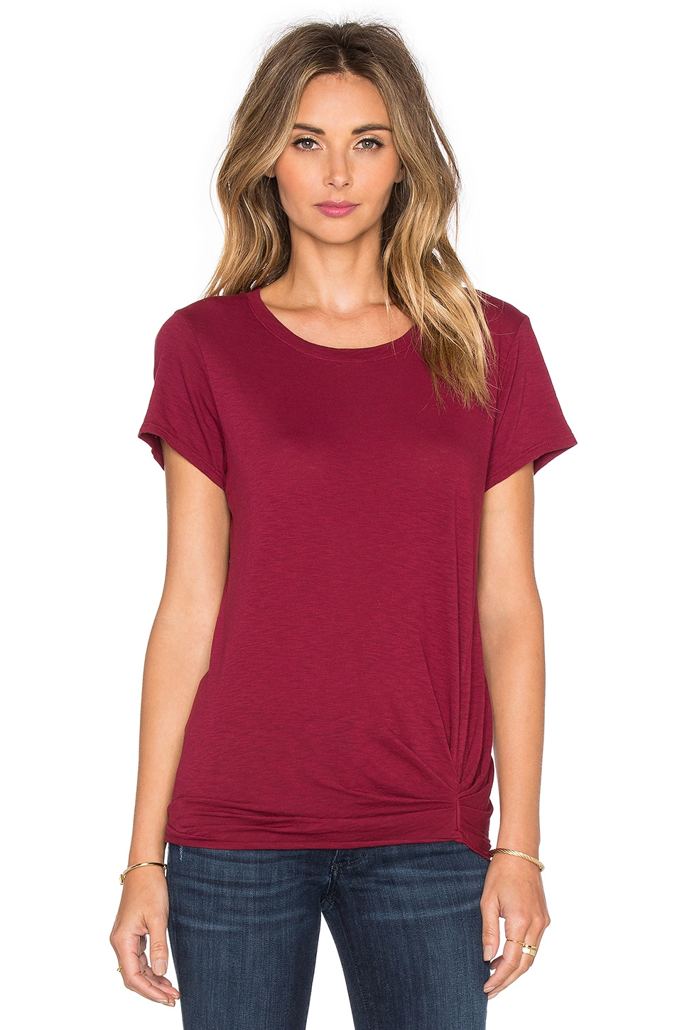 Michael Stars Short Sleeve Crew Neck Tee in Velvet