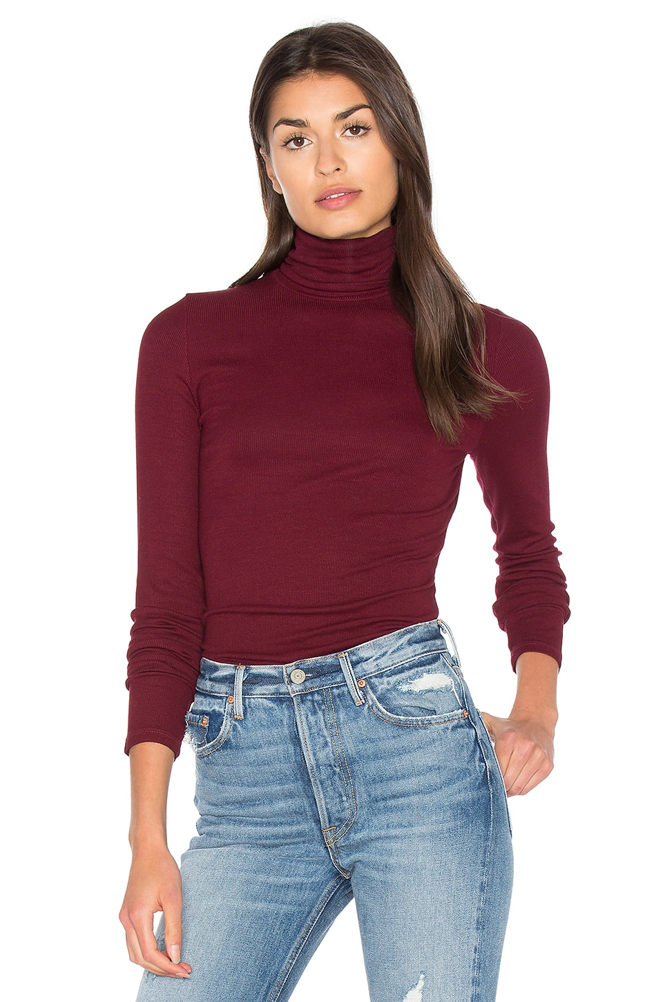 Michael Stars Long Sleeve Turtleneck in Pinot