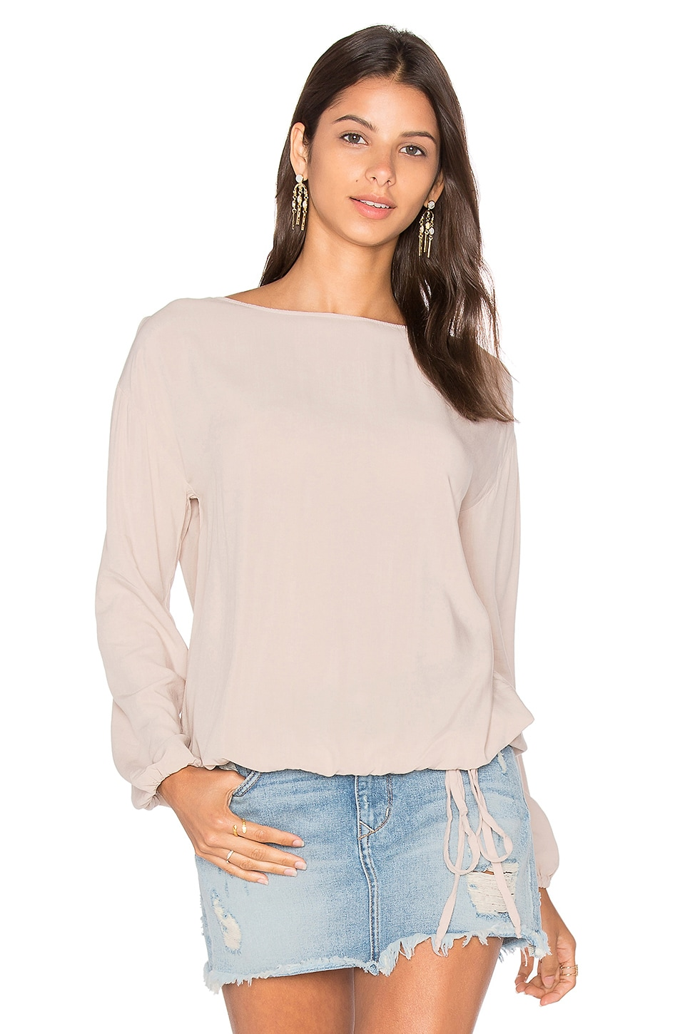 Long Sleeve Blouse by Michael Stars