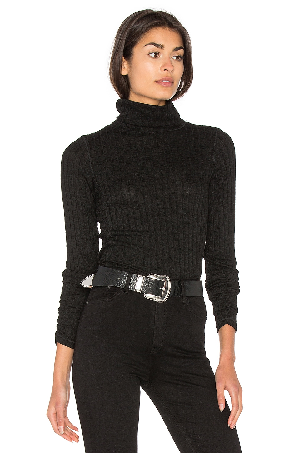 Long Sleeve Turtleneck Top by Michael Stars