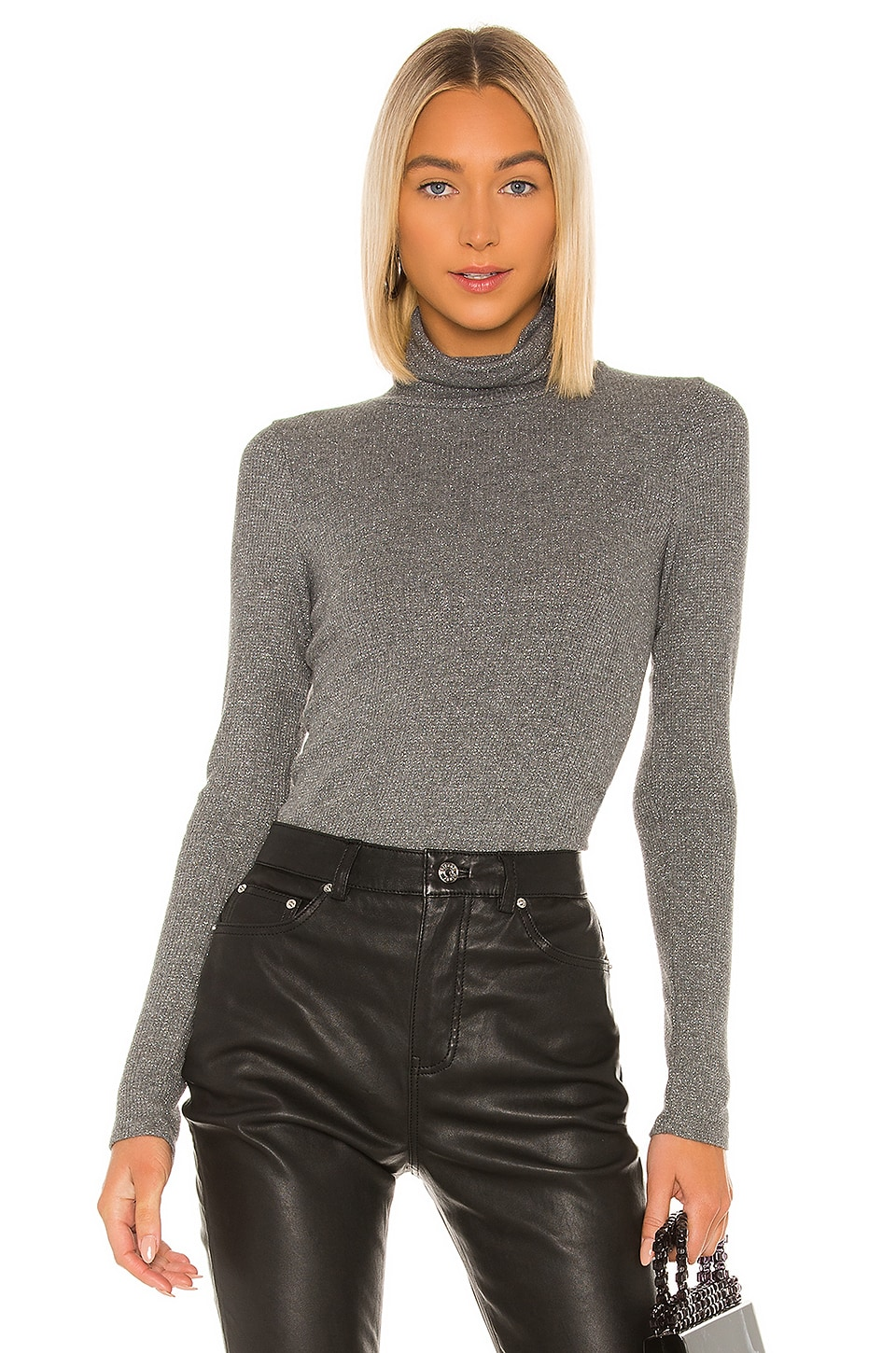 Michael Stars Marni Turtleneck in Charcoal