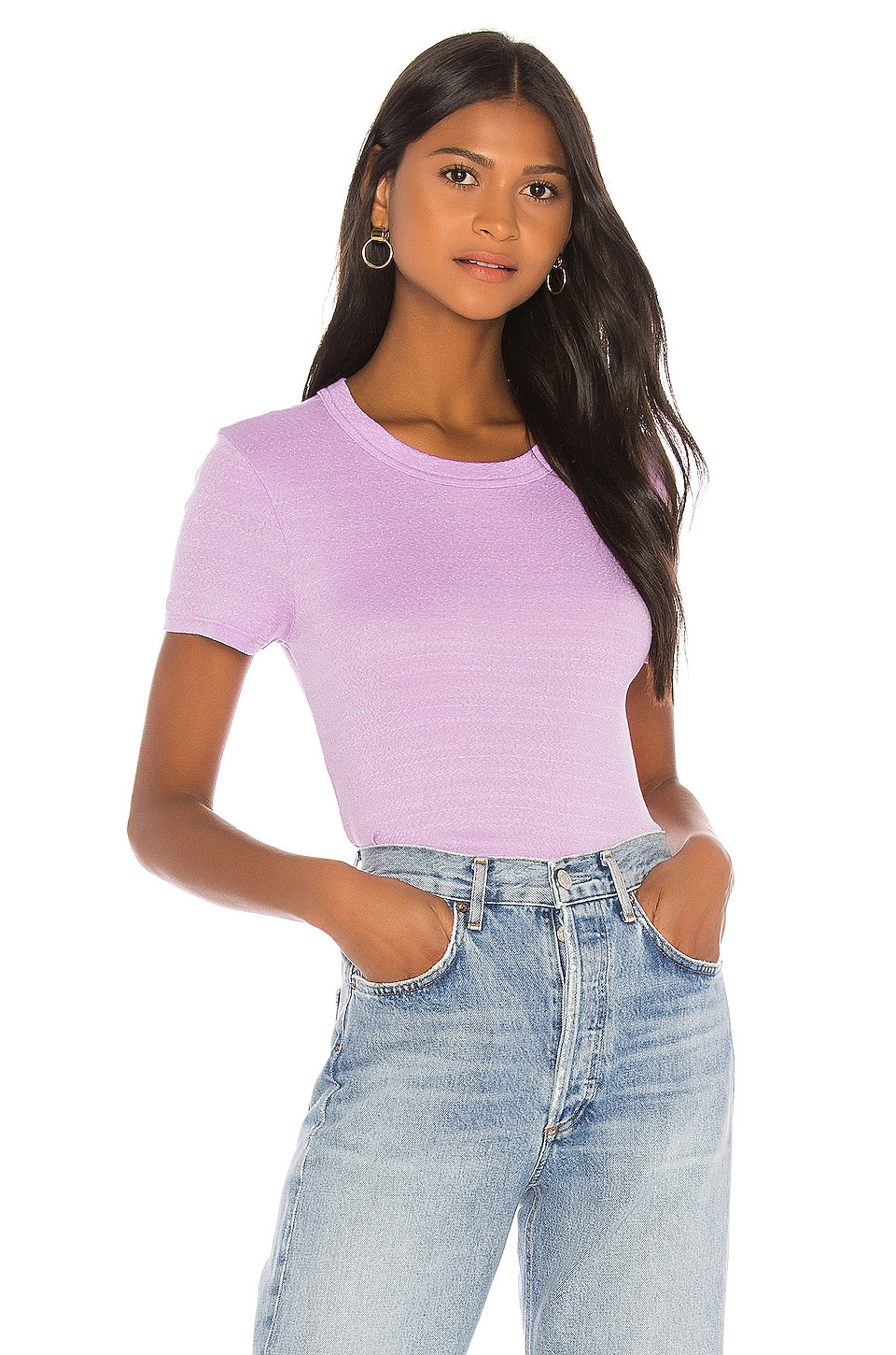 Michael Stars Short Sleeve Crew Neck Tee in Peony