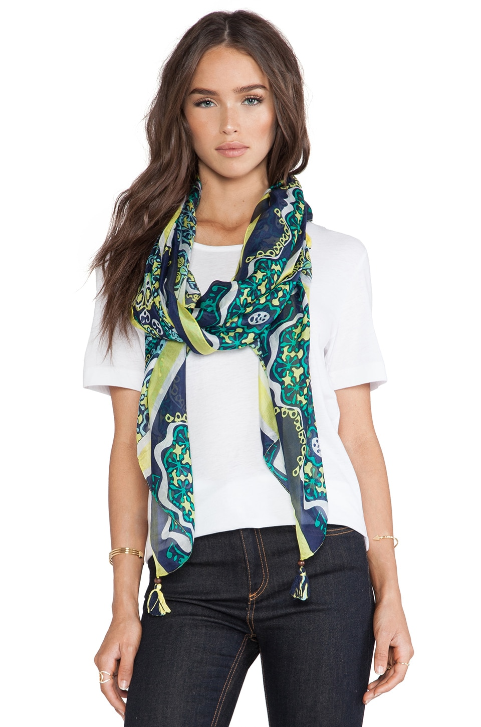 Michael Stars Mosaic Medallion Scarf in Ship