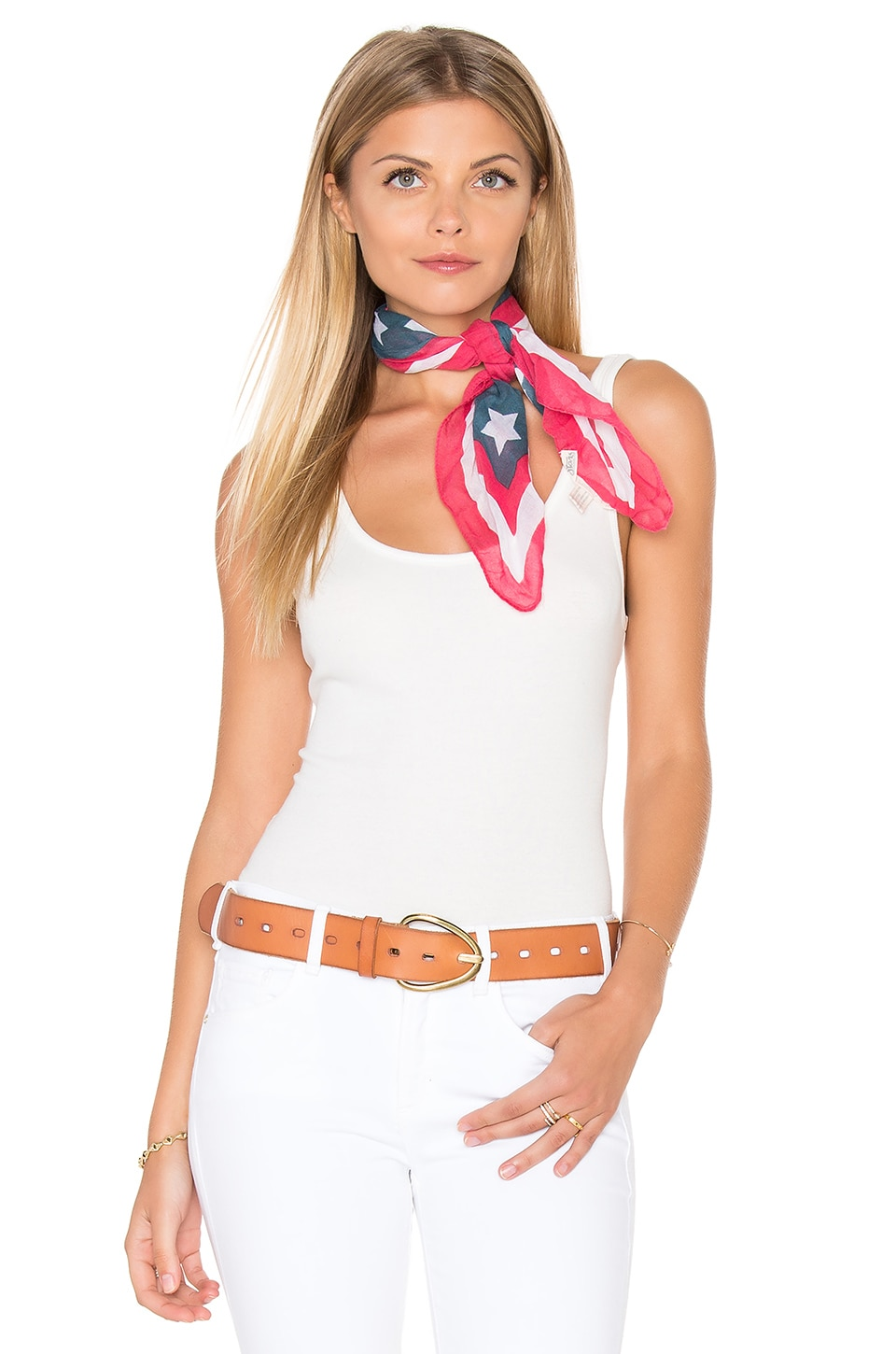 Michael Stars Stars And Stripes Square Bandana in Samba