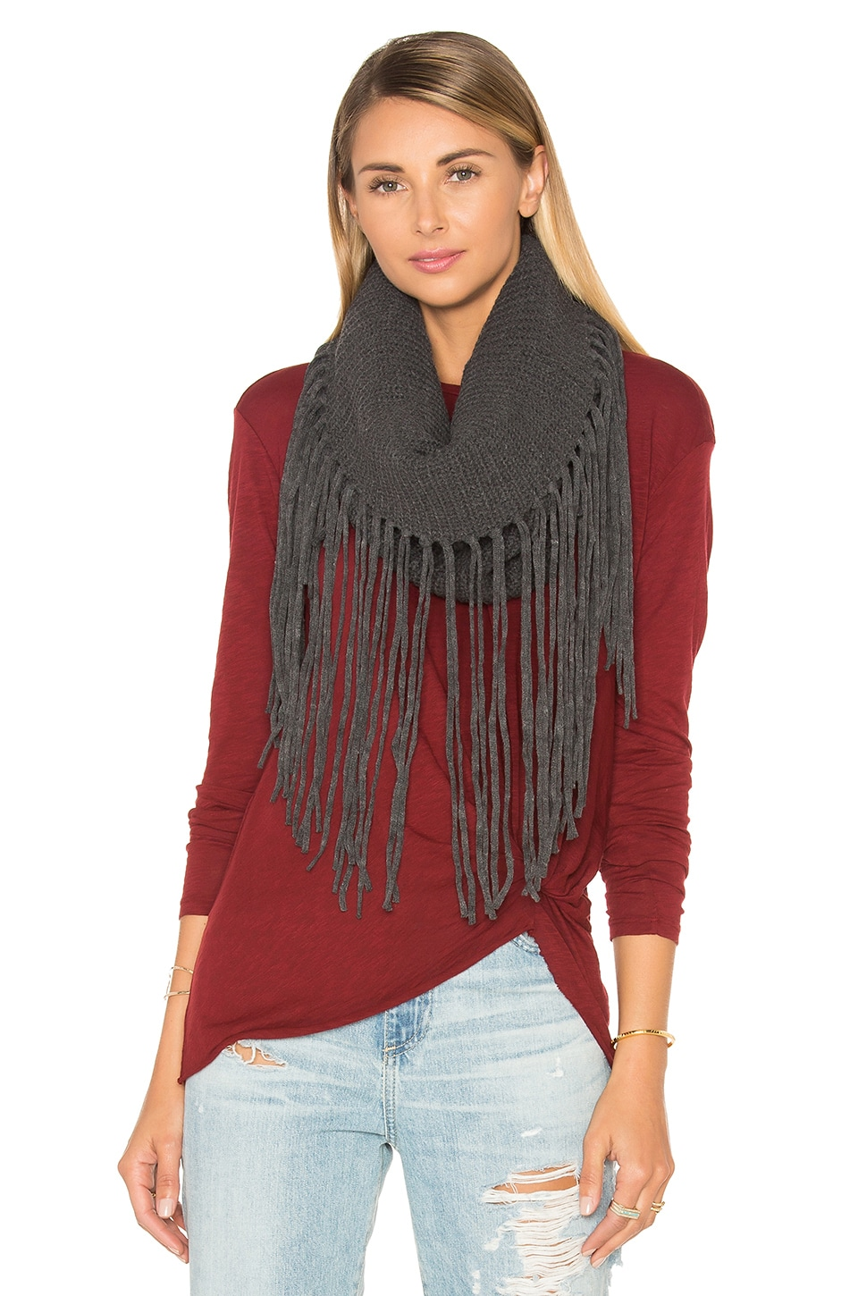 Fringed Out Cowl Scarf at REVOLVE