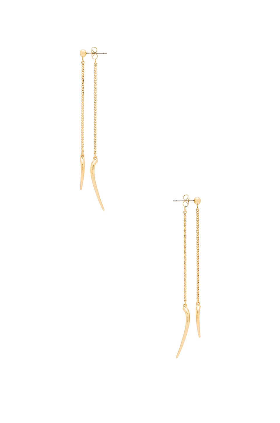 Michelle Campbell Double Talon Drop Earrings in Gold