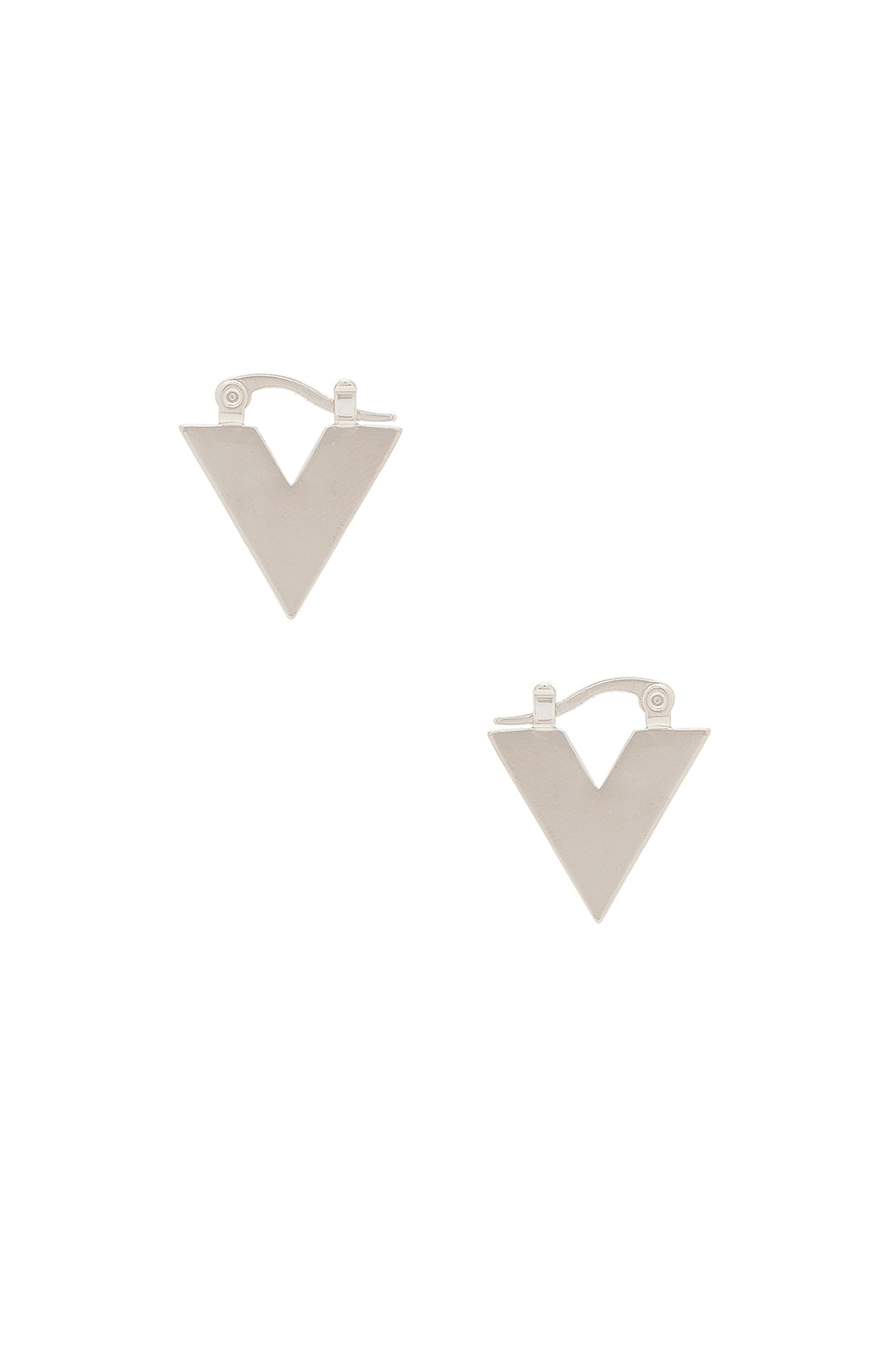 V Huggie Earrings by Michelle Campbell
