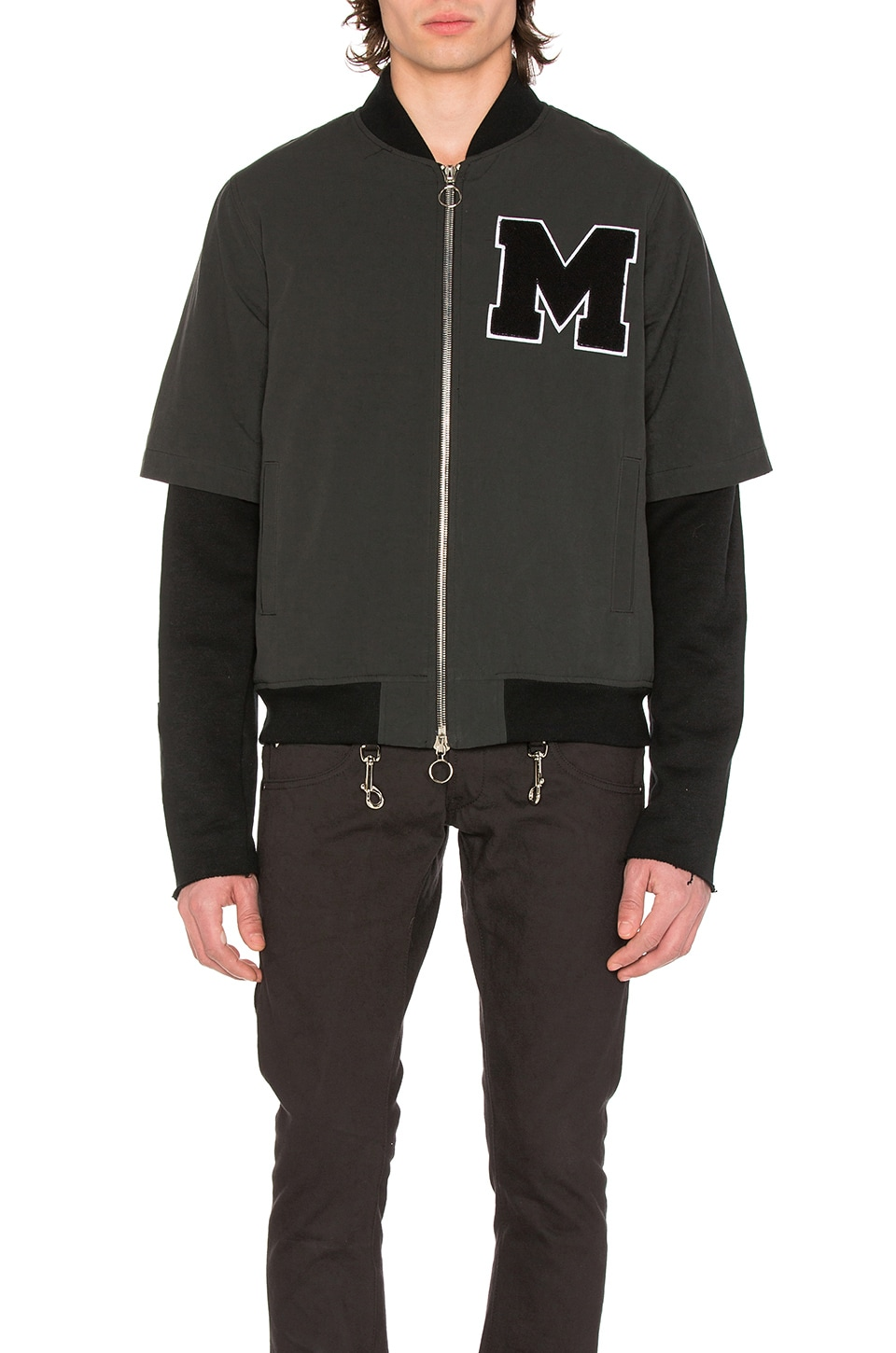 Photo of Layered Varsity Jacket by Midnight Studios men clothes