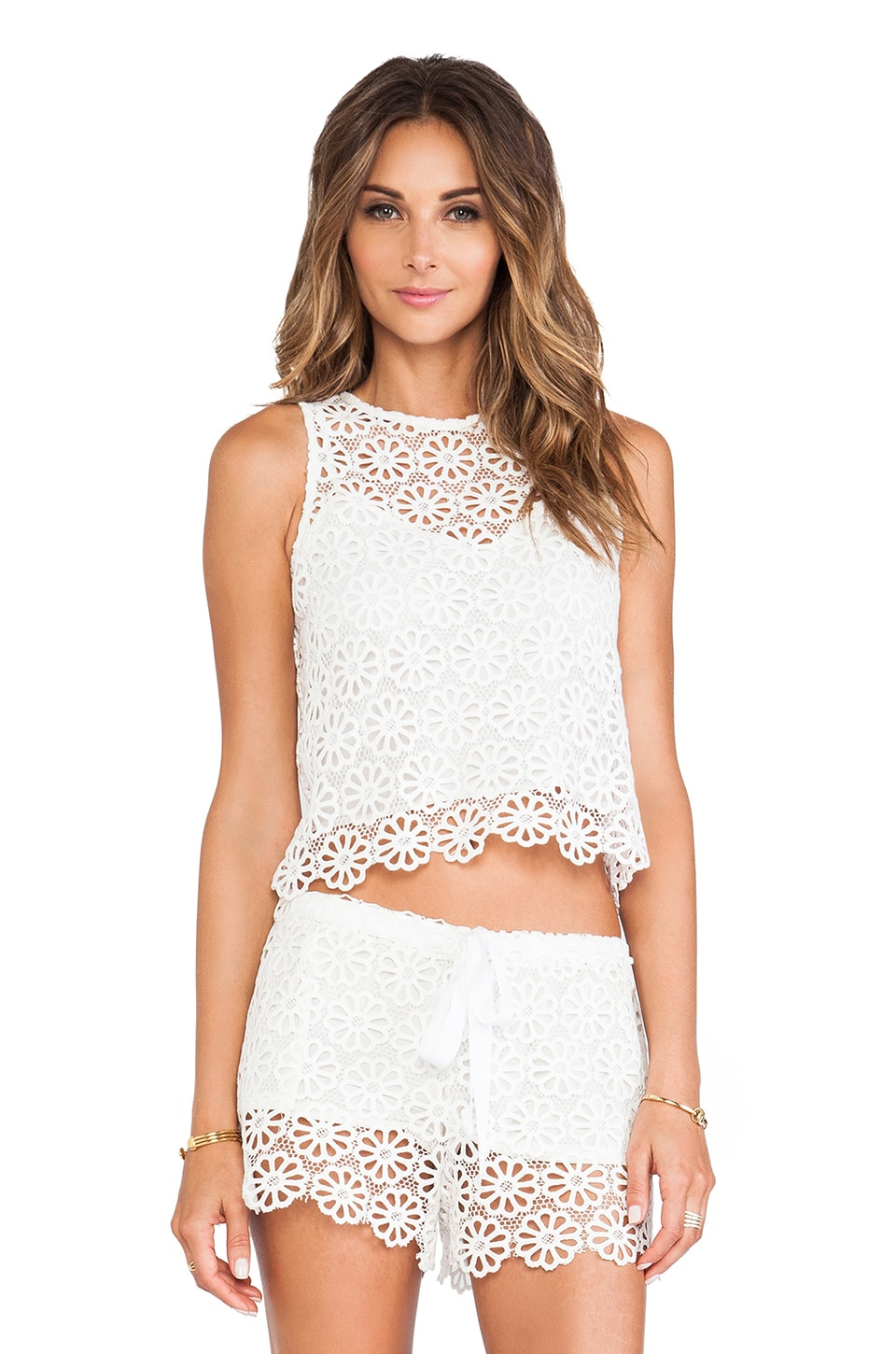 Miguelina Micha Tank in White