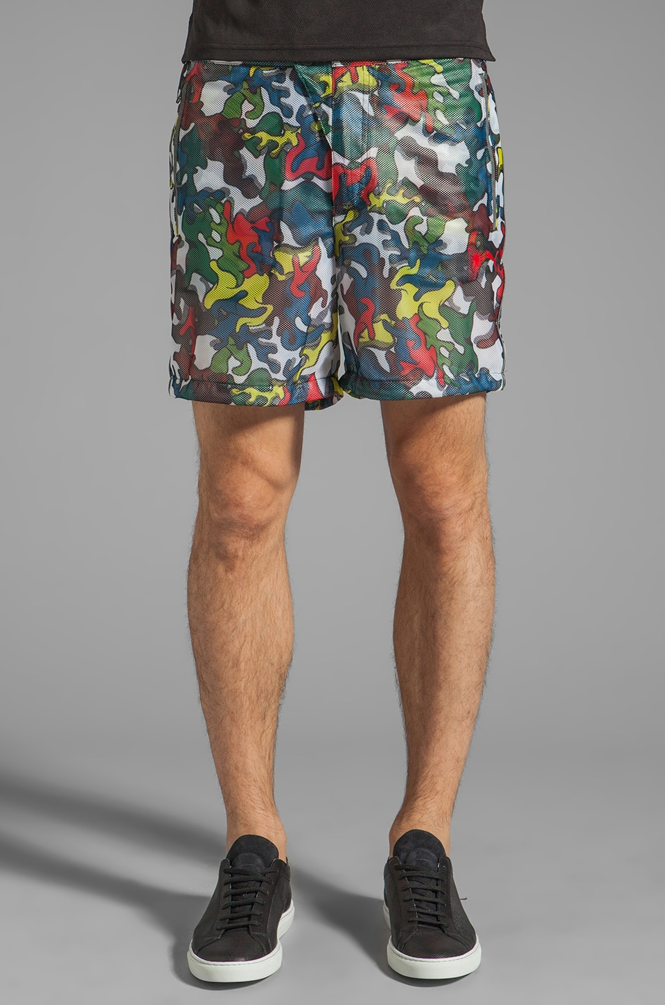 Puma by Mihara Leight Weight Short Pants in Multi Color-Camo Print