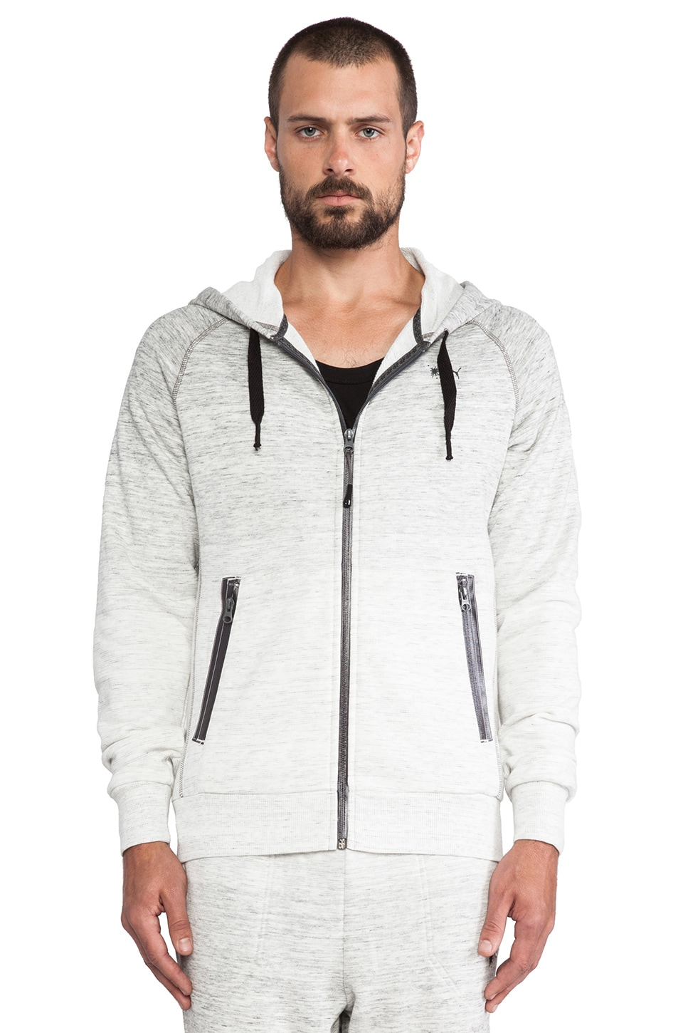 Puma by Mihara Sweater Hoody in Medium Gray Heather