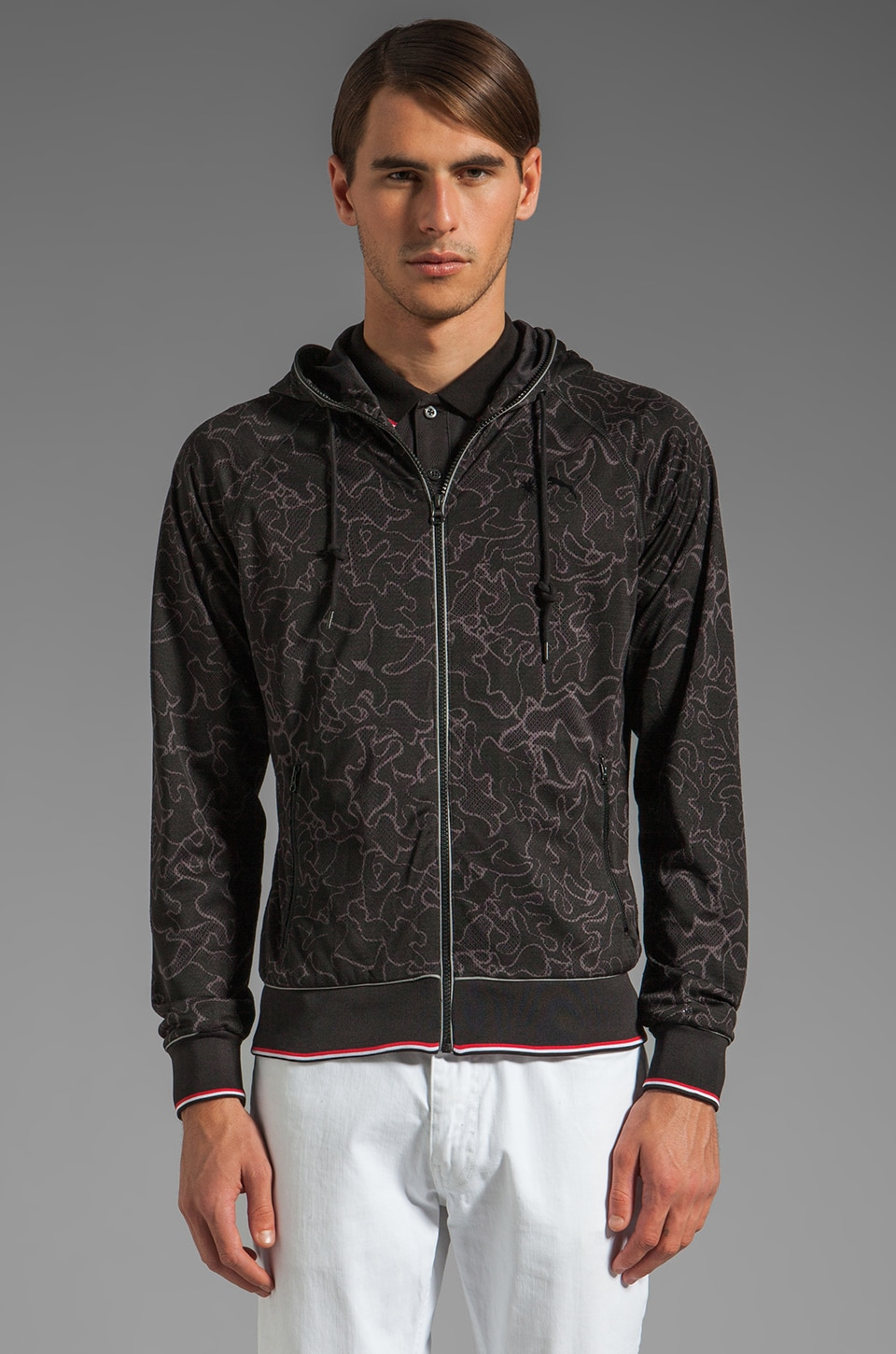 Puma by Mihara Hooded Track Jacket in Black