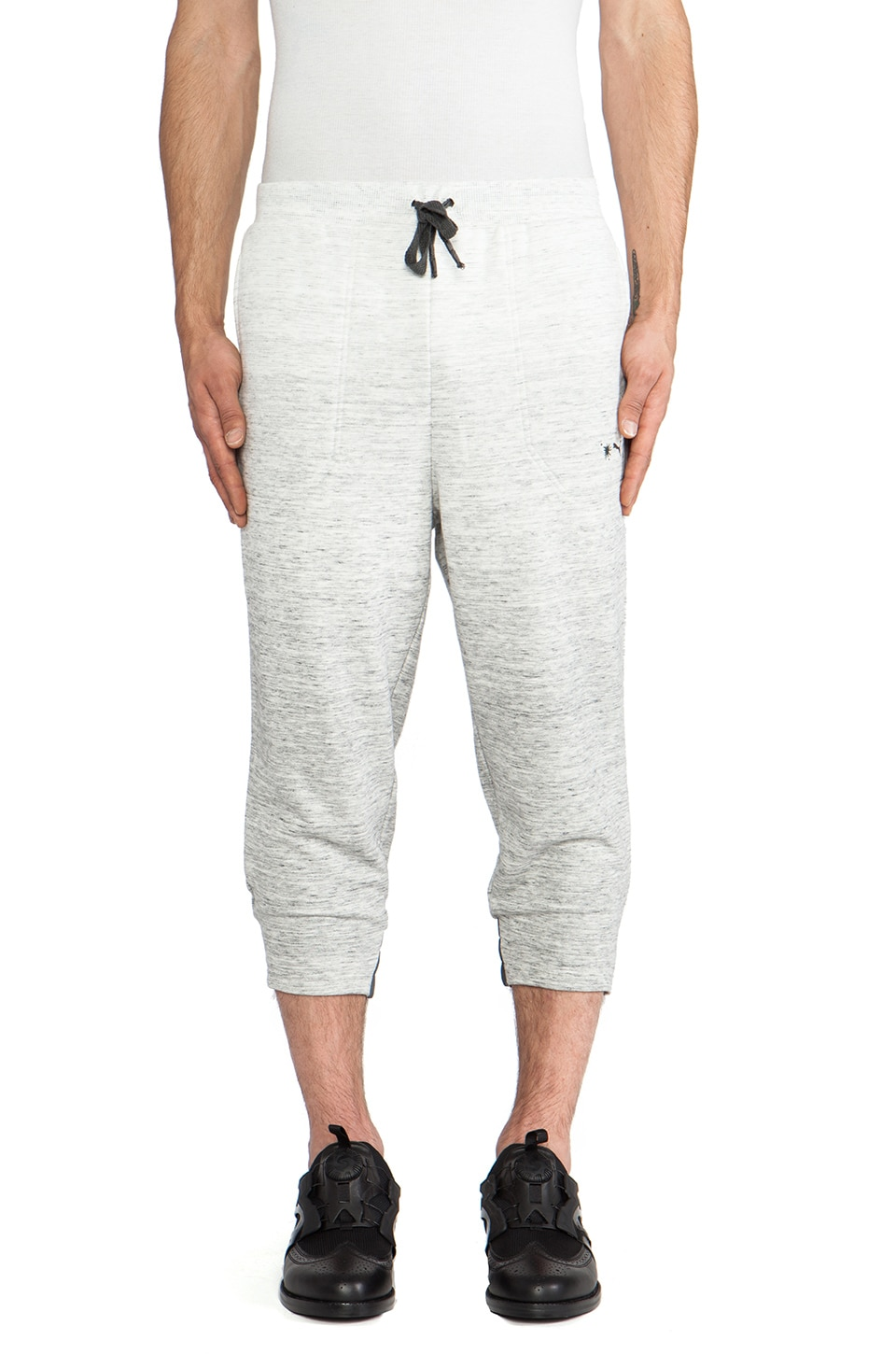 Puma by Mihara 3/4 Sweat Pants in Medium Gray Heather