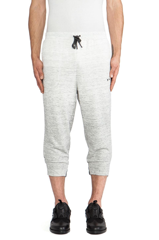 Puma by Mihara 3/4 Sweat Pants in Medium Gray Heather