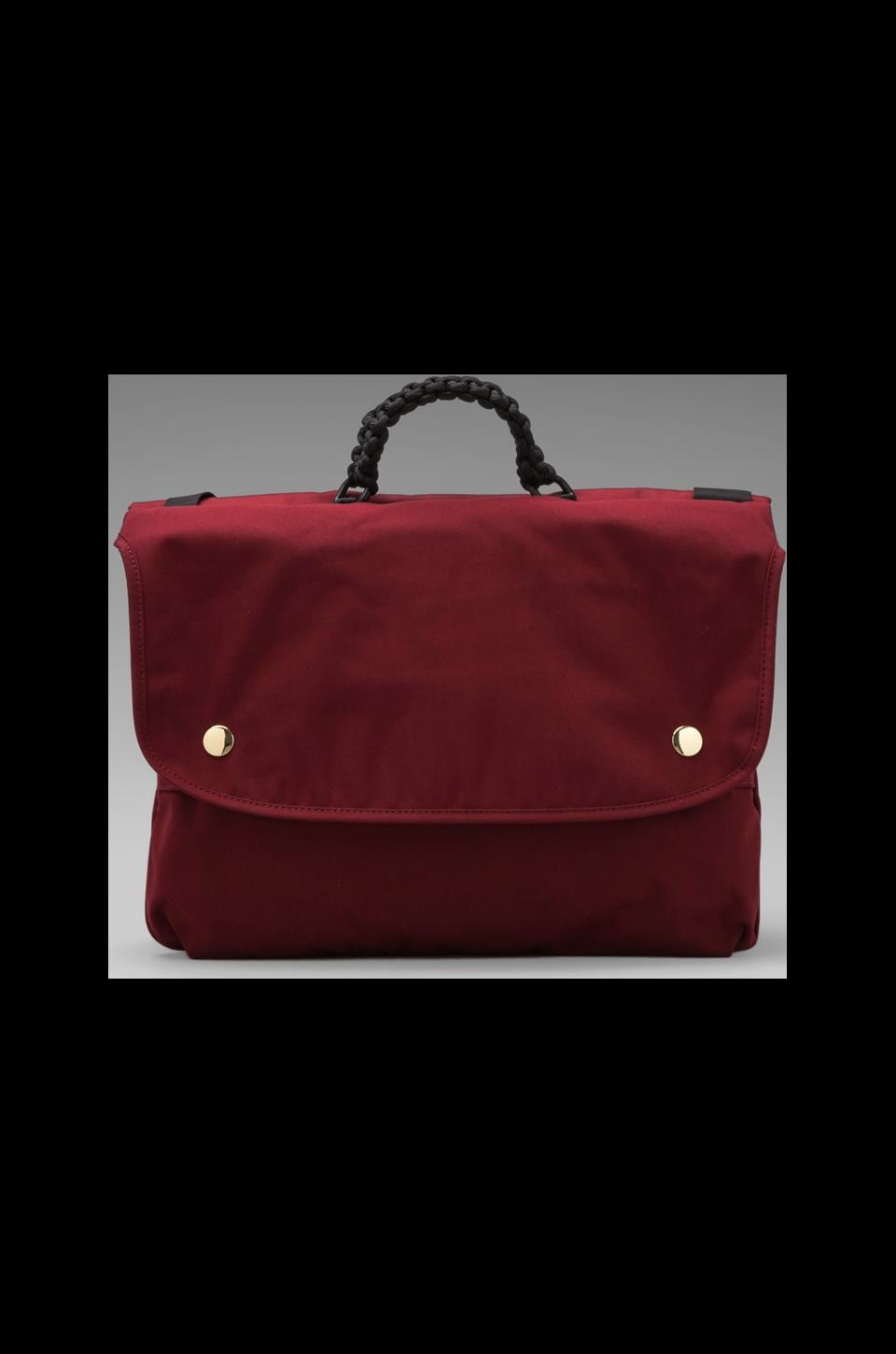 Puma by Mihara Twin Satchel in Haute Red