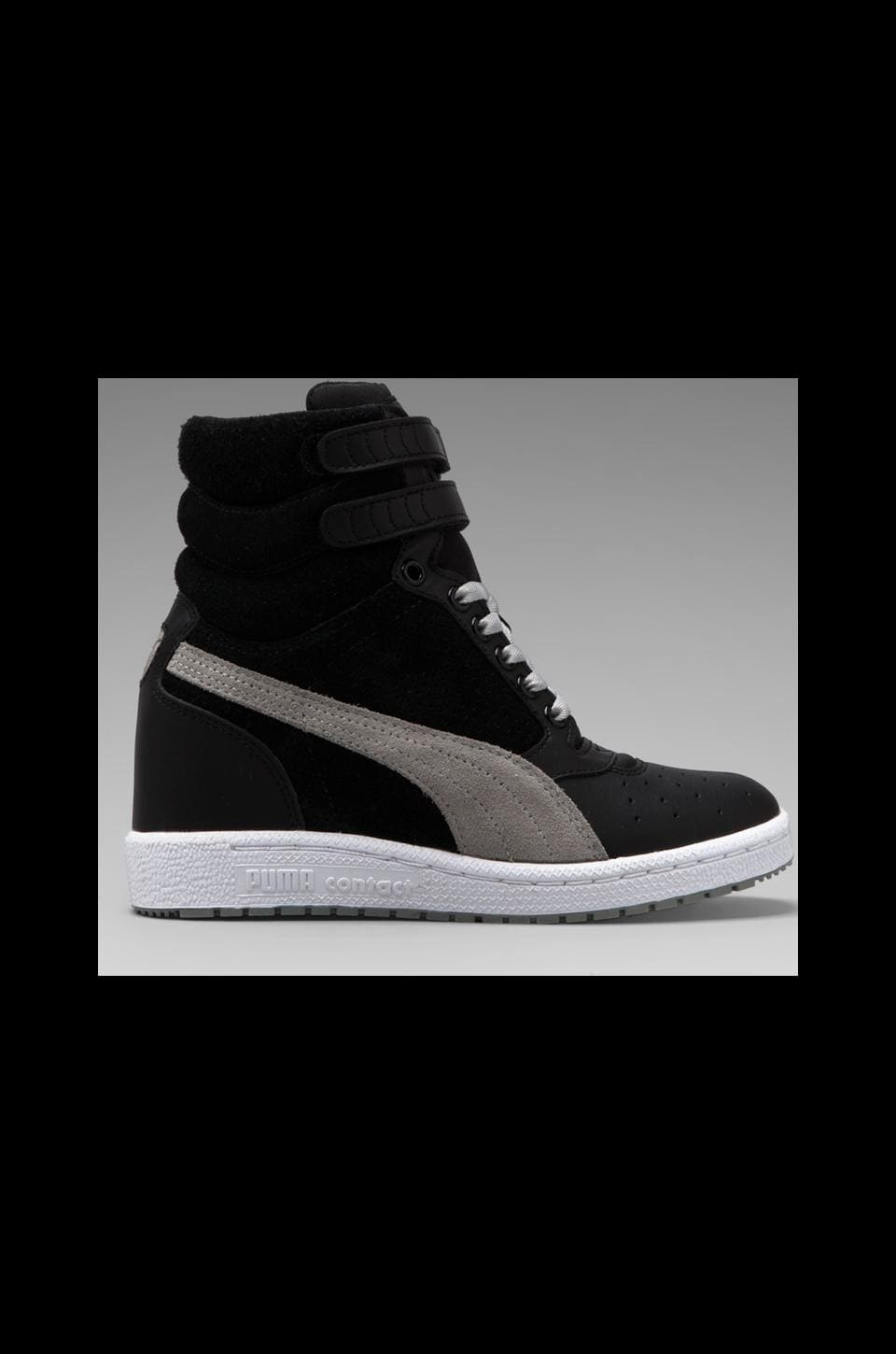 Puma by Mihara Sky Wedge in Black/Limestone Grey
