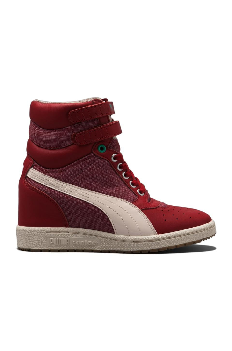 Puma by Mihara My-66 LC Sneaker in Pompeian Red/Mint Leaf