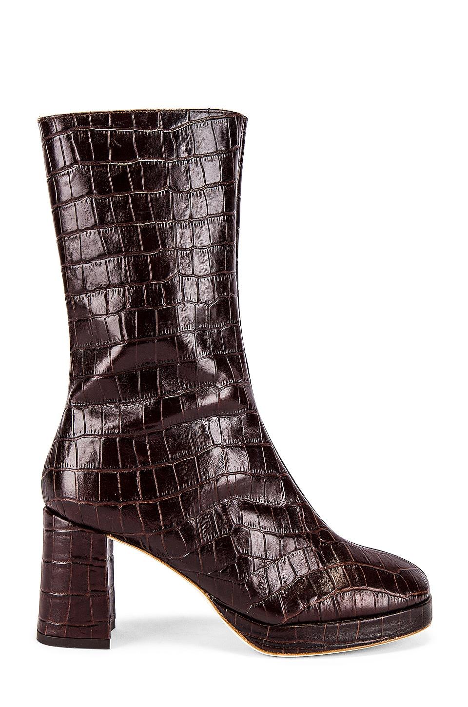 Miista Carlota Boot in Mahogany Croc