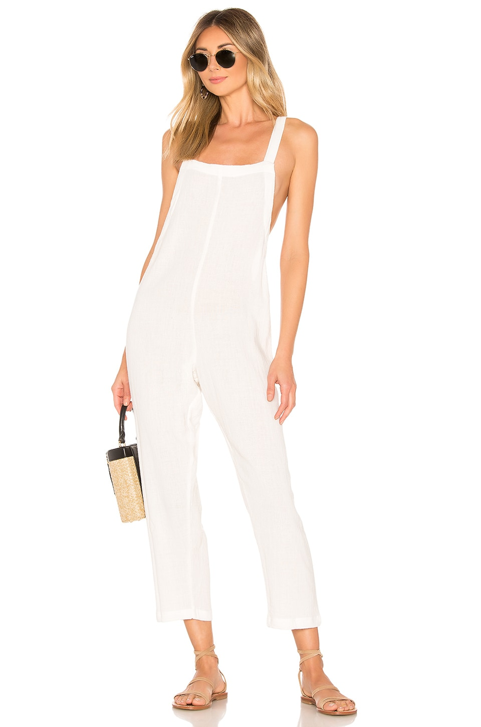 MIKOH Sayama Jumpsuit in Bone