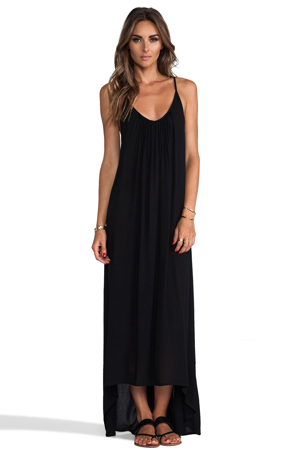 MIKOH Swimwear Biarritz Low Back Maxi Dress in Night
