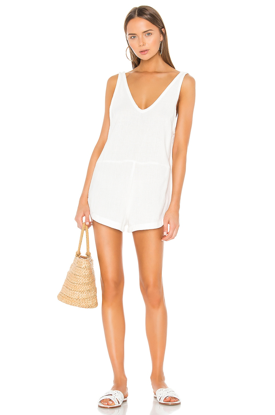 MIKOH Ibara Romper in Bone
