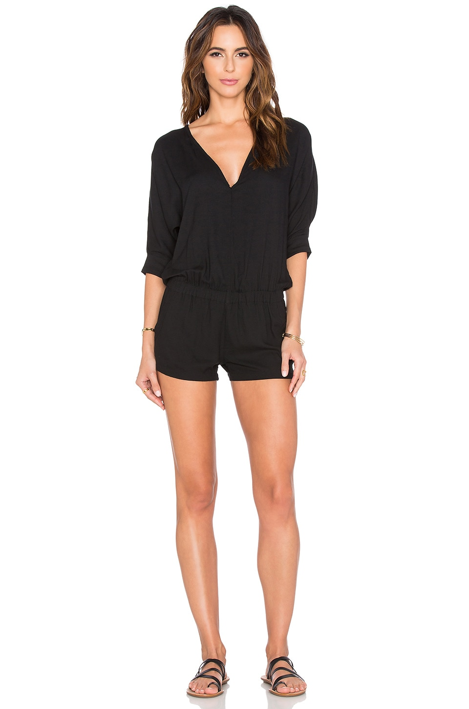 MIKOH Maruitius V Cut Romper in Night