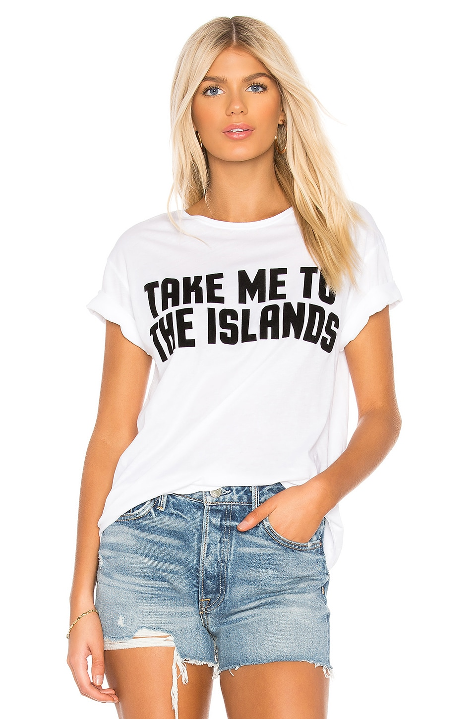 MIKOH Take Me To The Islands Tee in Foam