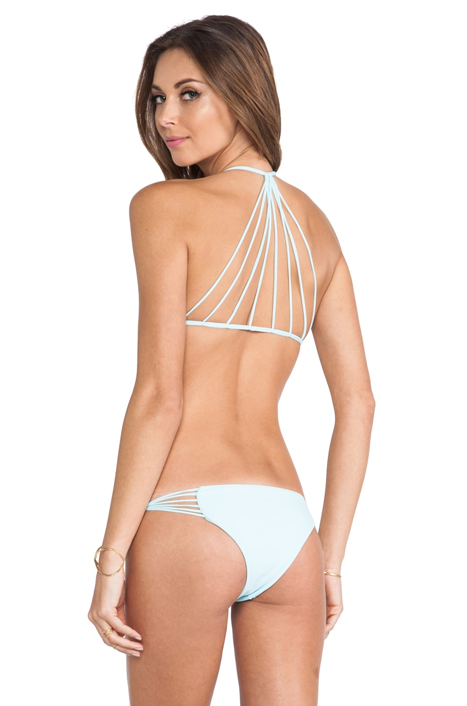 MIKOH Swimwear Banyans String Racerback Top in Capri