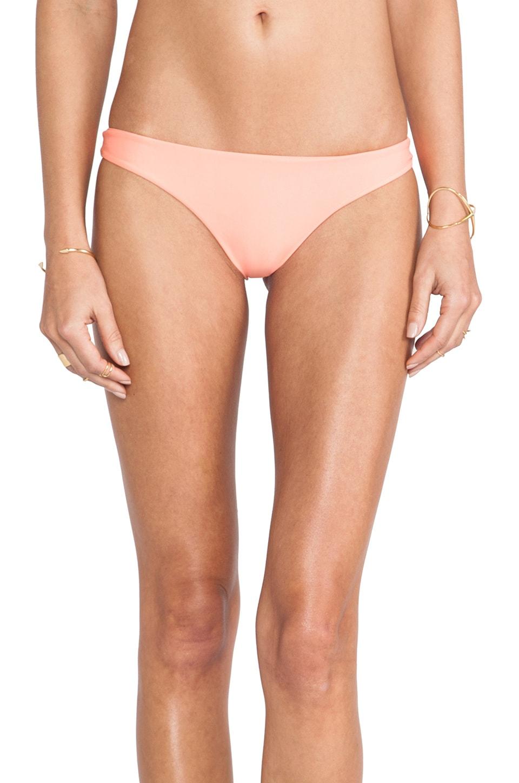 MIKOH Swimwear Lahaina Extra Skimpy Bottom in Coral