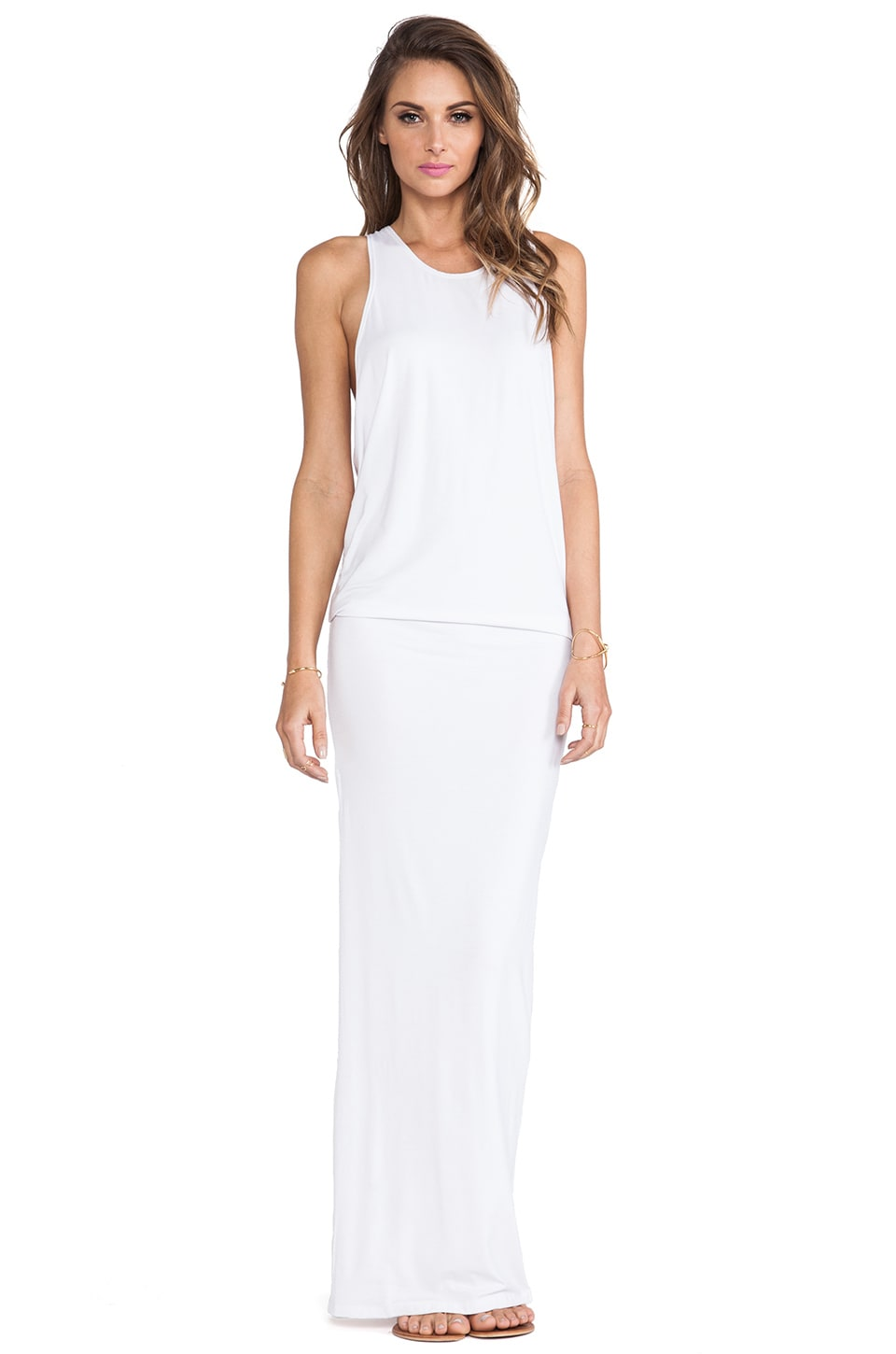 MIKOH Swimwear Mavericks High Neck Maxi Dress in Foam
