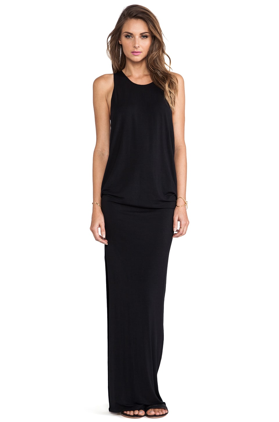 MIKOH Swimwear Mavericks High Neck Maxi Dress in Night