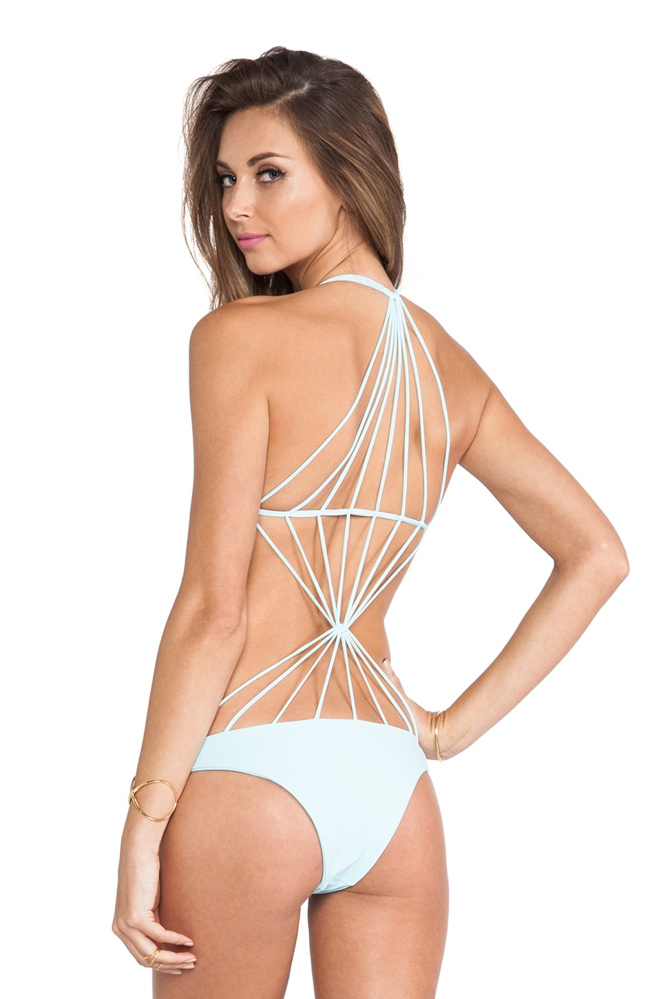 MIKOH Swimwear Seychelles String Back One Piece in Capri