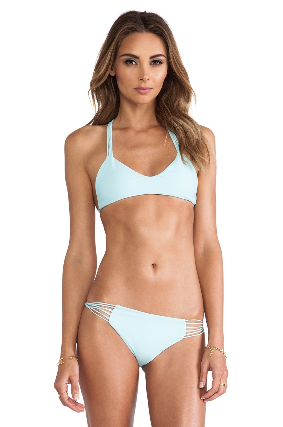 MIKOH Swimwear Uluwatu Bikini Top in Capri