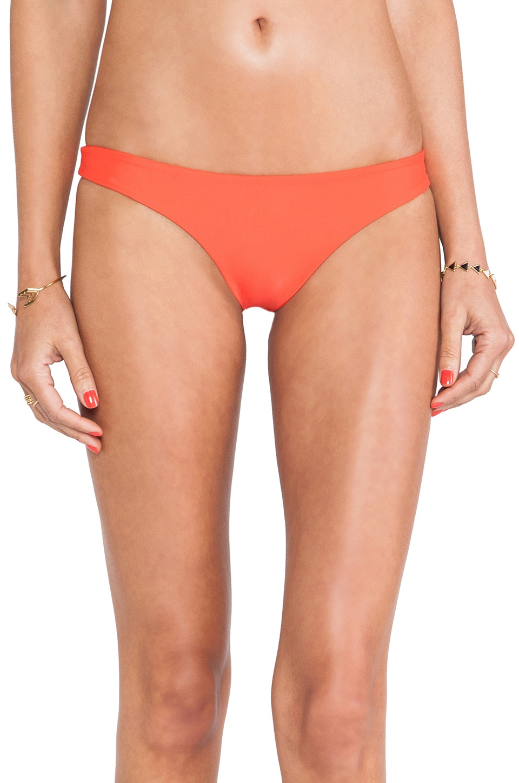 MIKOH Swimwear Lahaina Extra Skimpy Bottom in Heliconia