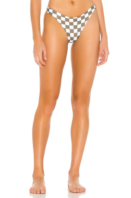 MIKOH Lahaina Bikini Bottom in Skater Olive