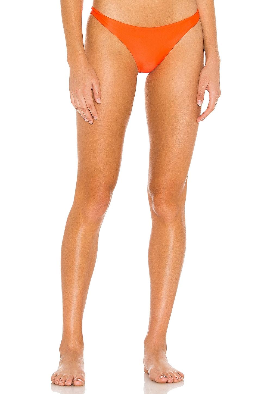 MIKOH Miyako Bikini Bottom in Mango Pop