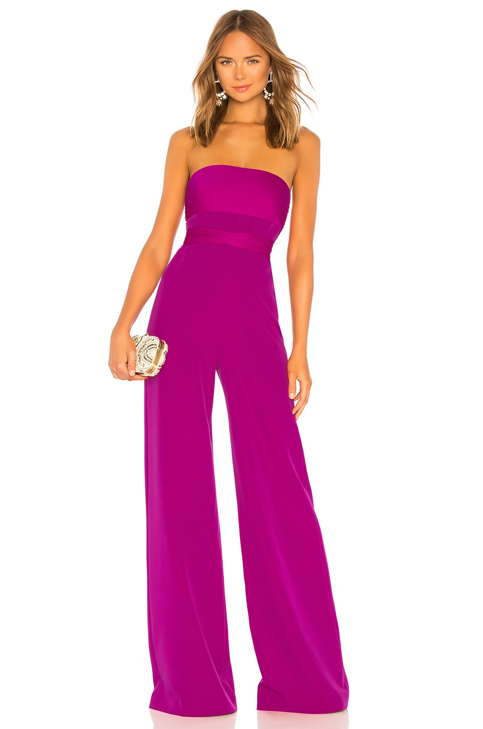 MILLY Brooke Jumpsuit in Magenta