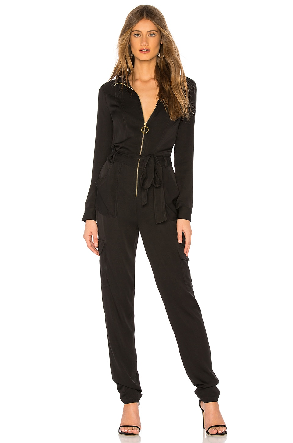 MILLY Utility Jumpsuit in Black