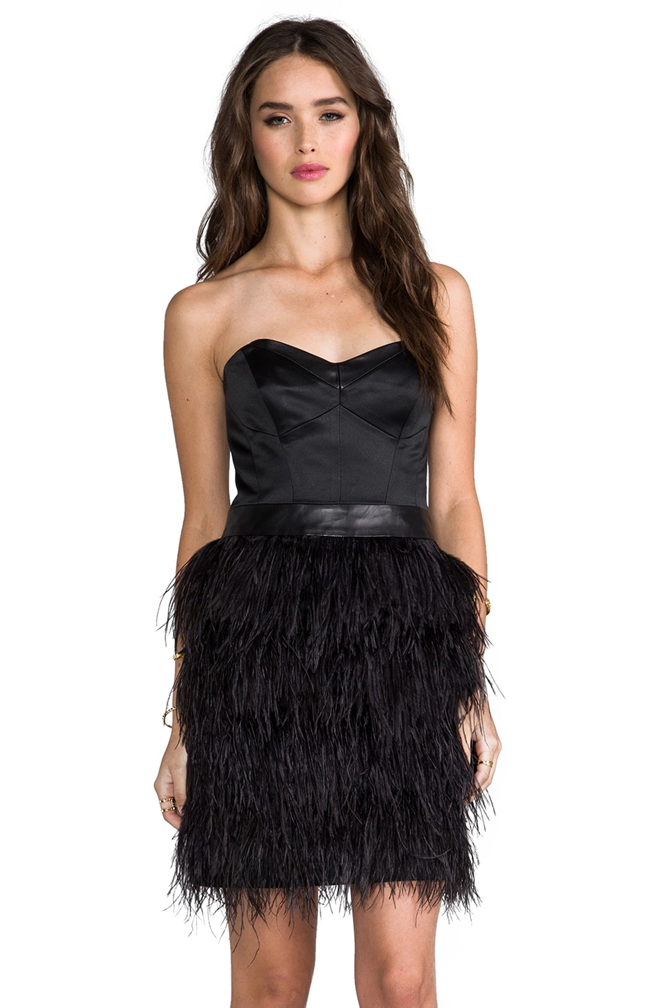 MILLY Cocktail Bustier Dress in Black