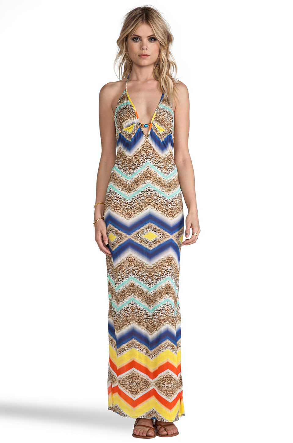 MILLY Saint Helena Maxi Dress in Multi