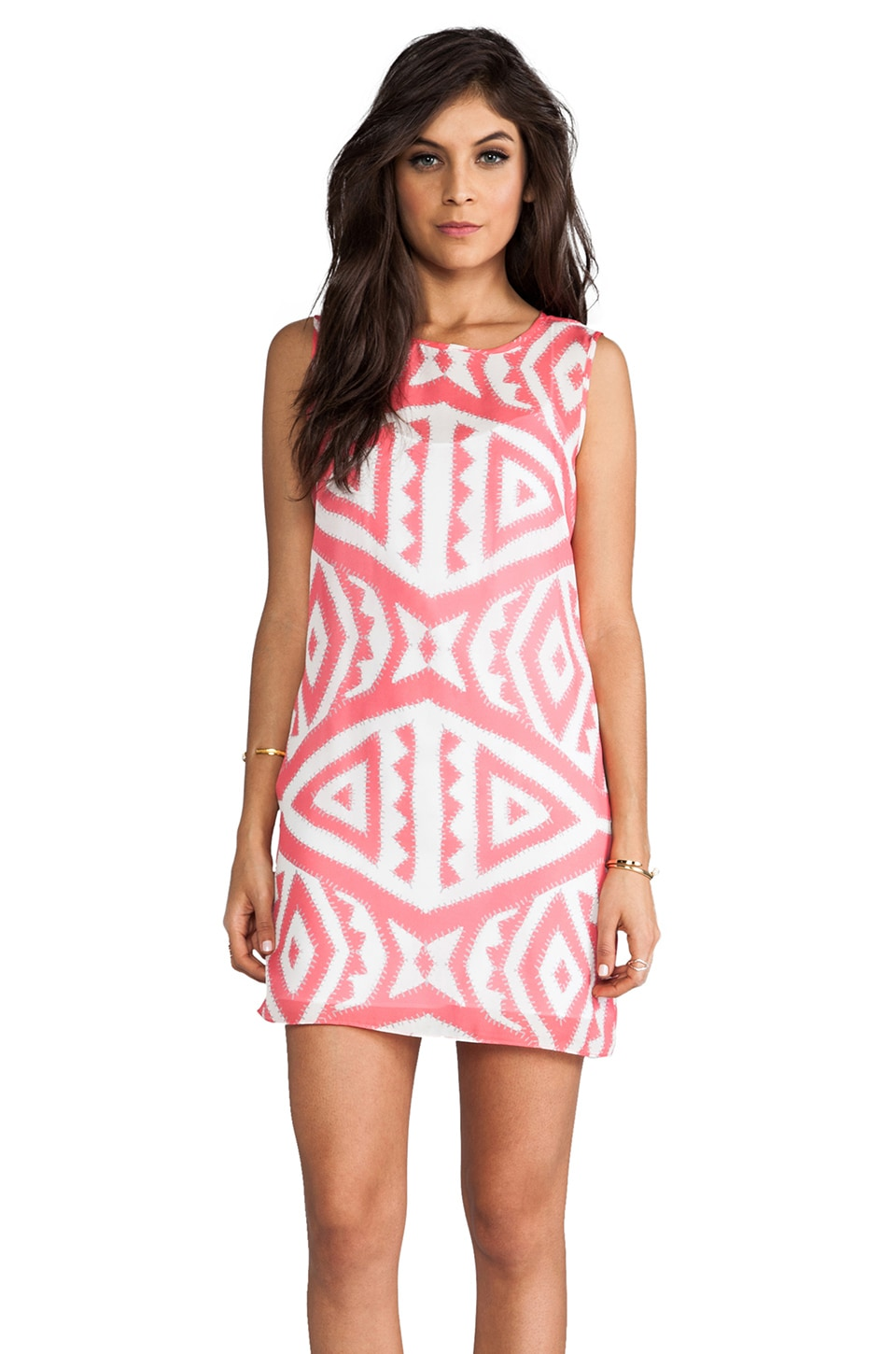 MILLY Shift Dress in Coral