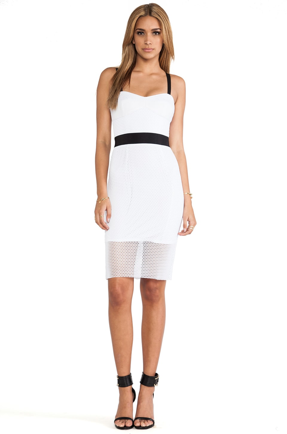 MILLY Bustier Strap Dress in White
