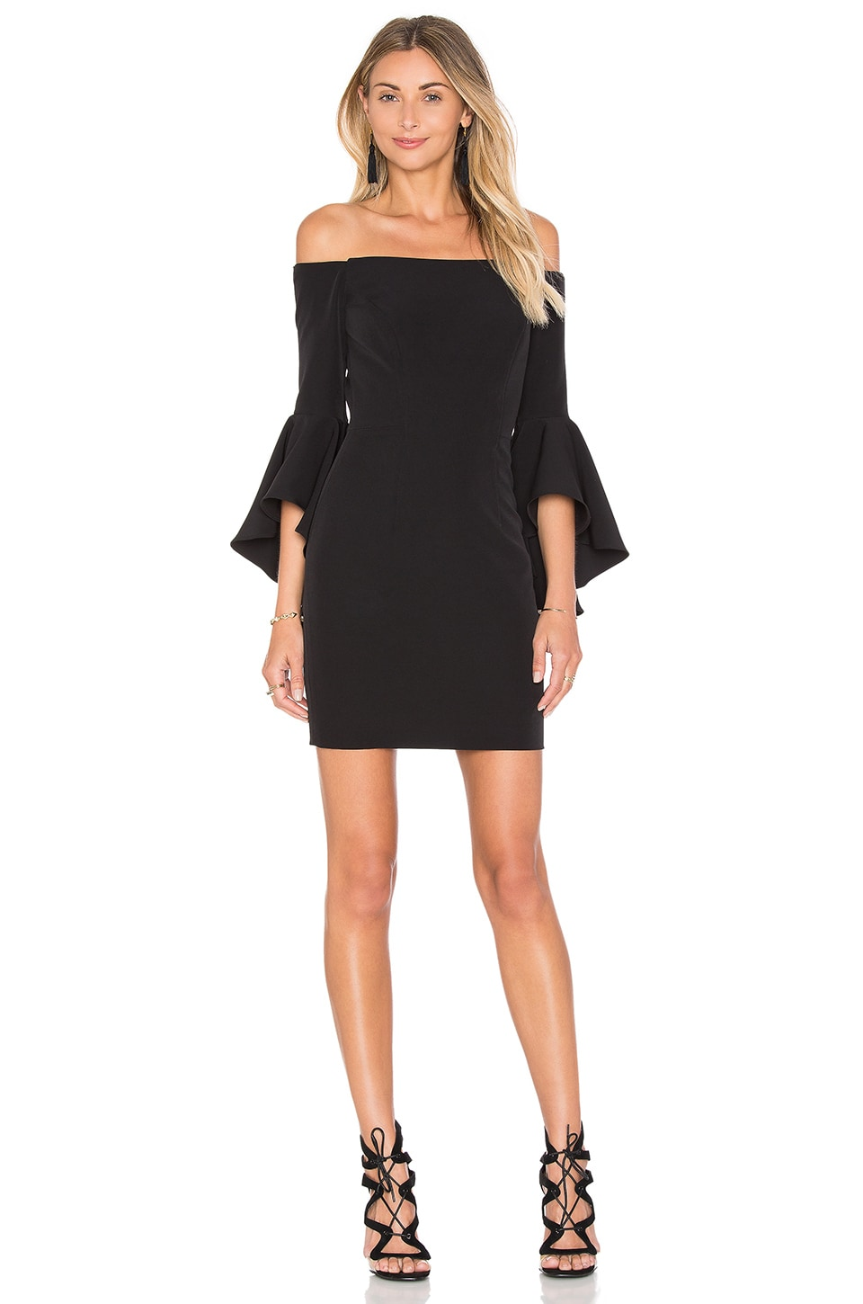 MILLY Cady Selena Mini Dress in Black | REVOLVE